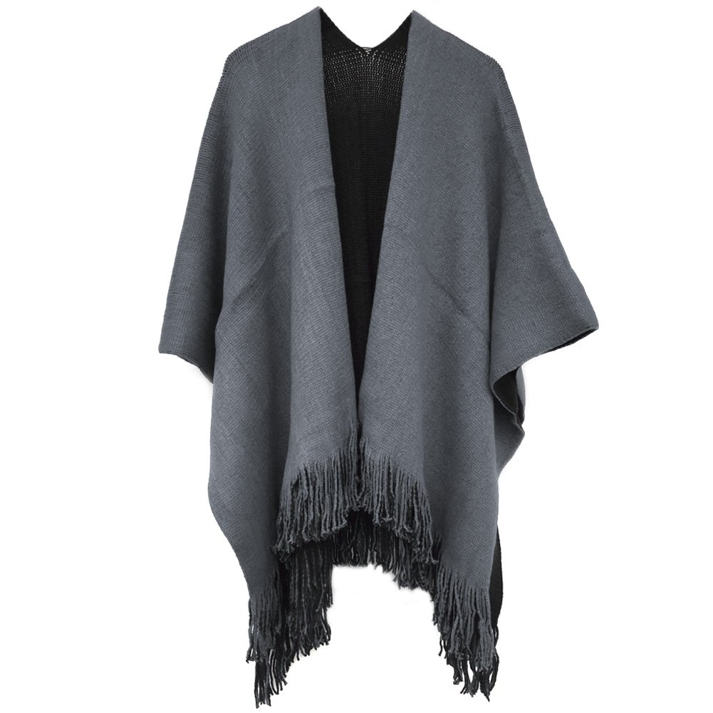 Kocome Women Blanket Oversized Scarf Wrap Long Knit Shawl Poncho Tassel Fringe