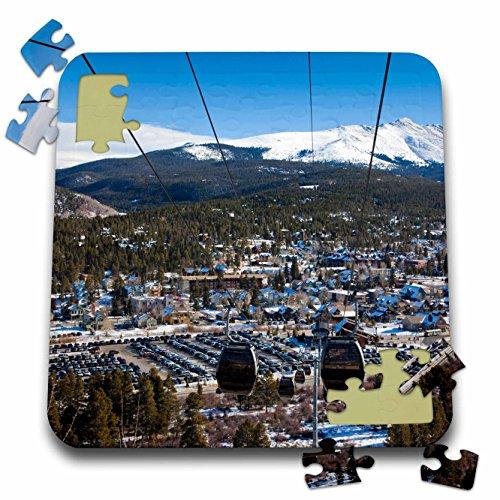 - Danita Delimont - Skiing - USA, Colorado, Breckenridge, ski lift, Mt Baldy - US06 WBI0080 - Walter Bibikow - 10x10 Inch Puzzle (pzl_143225_2)