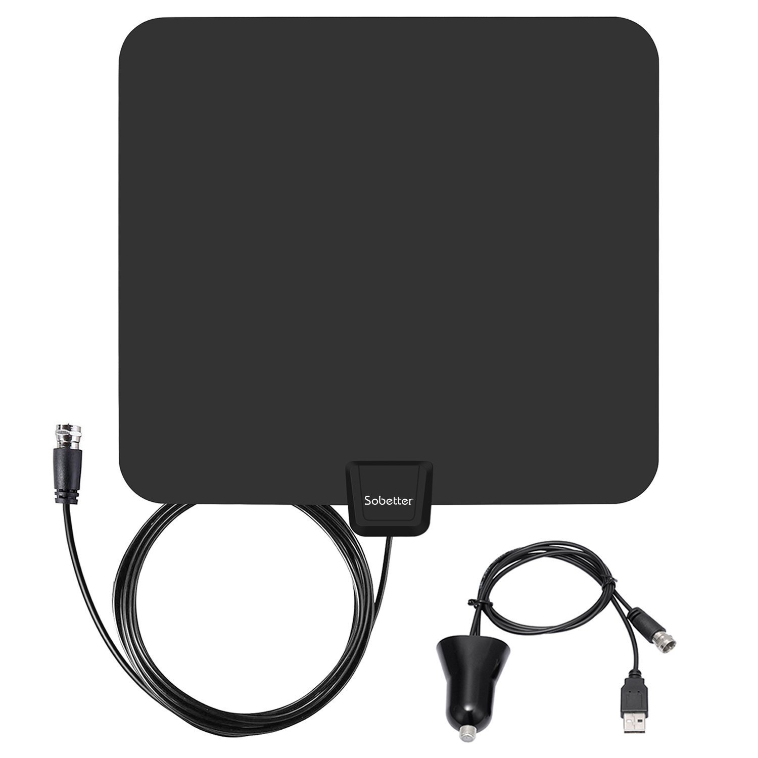 TV Antenna - Upgraded Amplified Digital HDTV Antenna 50 Miles Range Local Broadcast 4K HD VHF UHF Signal TV Channels for Television with Detachable Amplifier and Coax Cable
