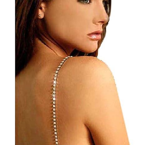 087136e0a45da Diamante Bra Straps Crystal Clear Single Row - Pair  Amazon.co.uk ...