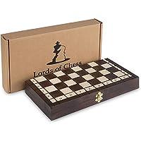 Amazinggirl Handgemacht Holz Schachspiel 35 x 35 cm mit Figuren - Schachbrett