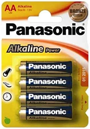 Panasonic POWER LR6 AA - Pack de 4 pilas alcalinas: Amazon.es ...