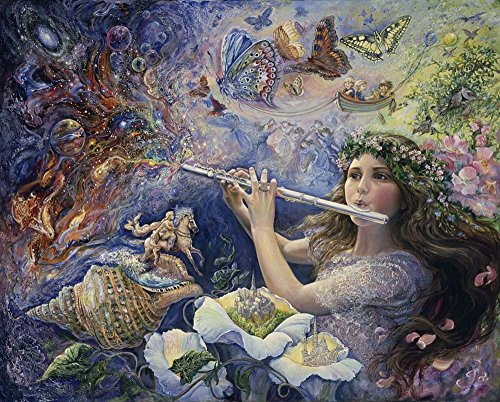 Enchanted Flute by Josephine Wall Art Print, 13 x 10 inches ()