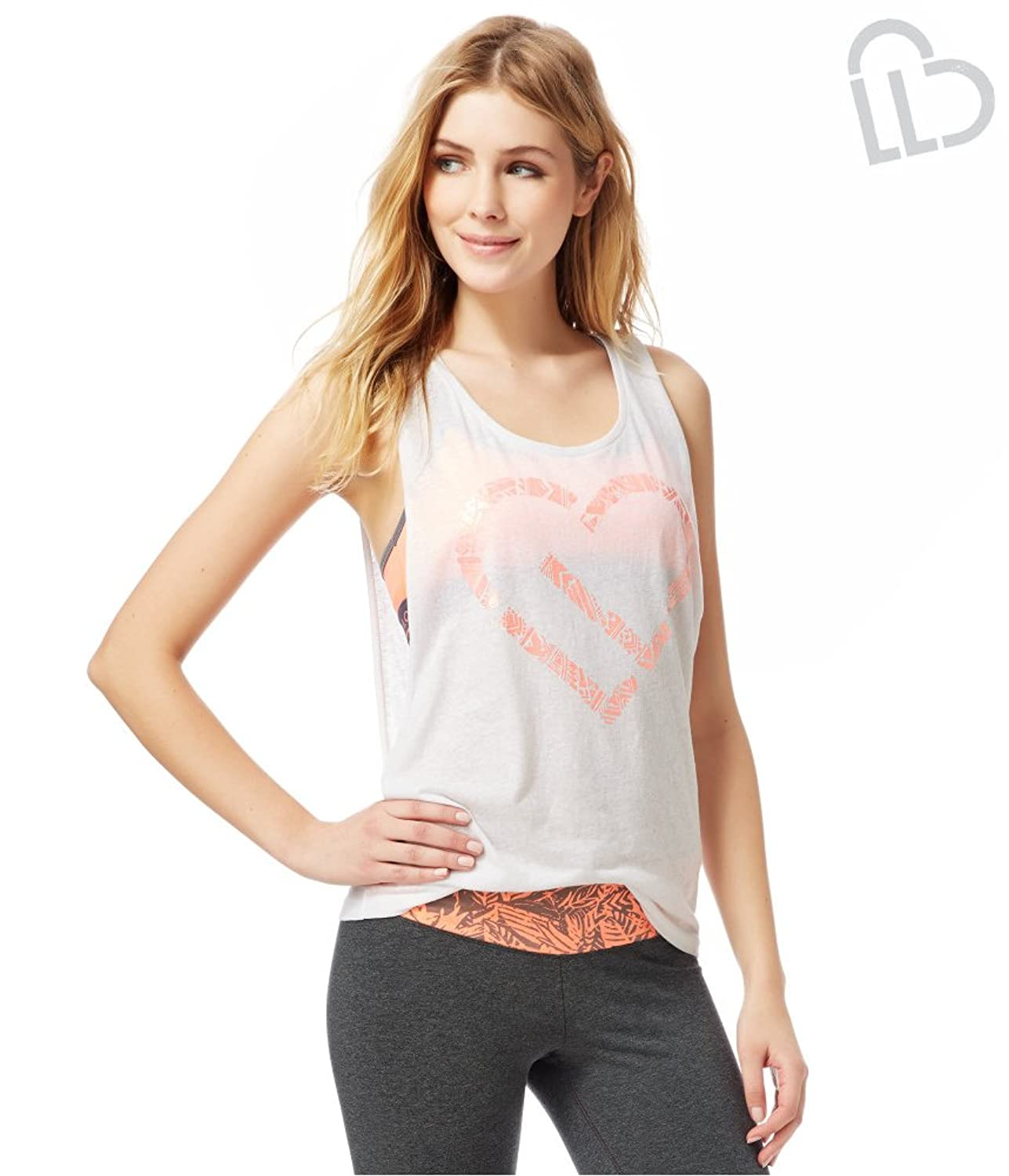 Aeropostale Womens Southwest Heart Muscle Graphic T-Shirt