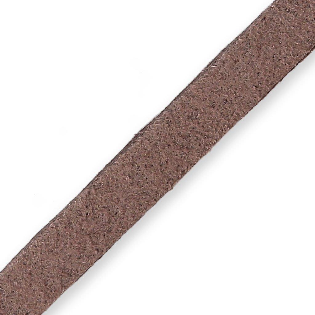 Laccetto pelle Scamosciata mm. 6x1.3 Marrone chiaro x m. 2 N/A