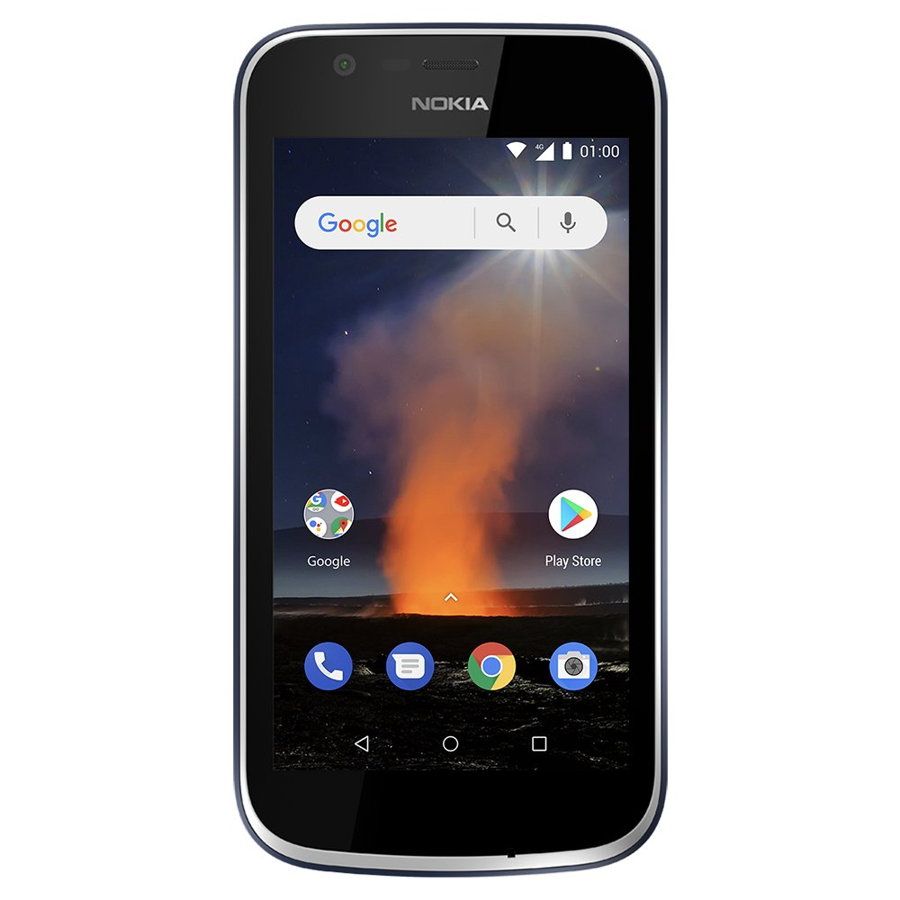 Nokia 1 - Android One (Go Edition) - 8 GB - Dual SIM LTE Unlocked Smartphone (AT&T/T-Mobile/MetroPCS/Cricket/H2O) - 4.5'' Screen - Dark Blue by Nokia
