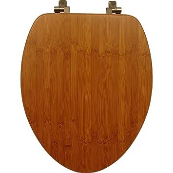 dark brown toilet seat. Mayfair 19401NI 568 Solid Bamboo Toilet Seat with Brushed Nickel Hinges  Elongated Dark