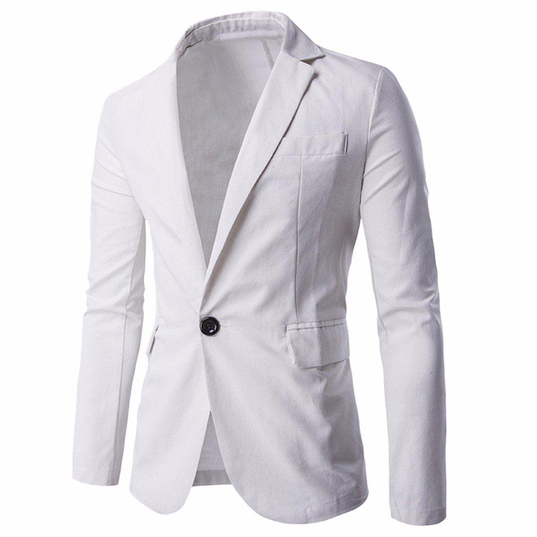 Ai.Moichien Men's Tailored Fit Premium Linen Blazer Jackets Casual Suit Coats Multi Color A2006S0930