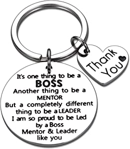 Boss Supervisor Appreciation Gift Keychain for Birthday Boss Day Retirement from Coworker Mentor Leader Christmas Gifts for Boss Lady Goodbye Farewell Going Away Office Keyring
