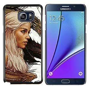 Targaryen dragón Madre- Metal de aluminio y de plástico duro Caja del teléfono - Negro - Samsung Galaxy Note5 / N920