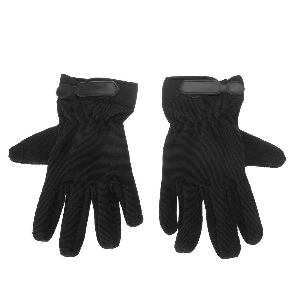 everpert nueva motocicleta bicicleta equitación caza guantes dedo completo, negro, medium