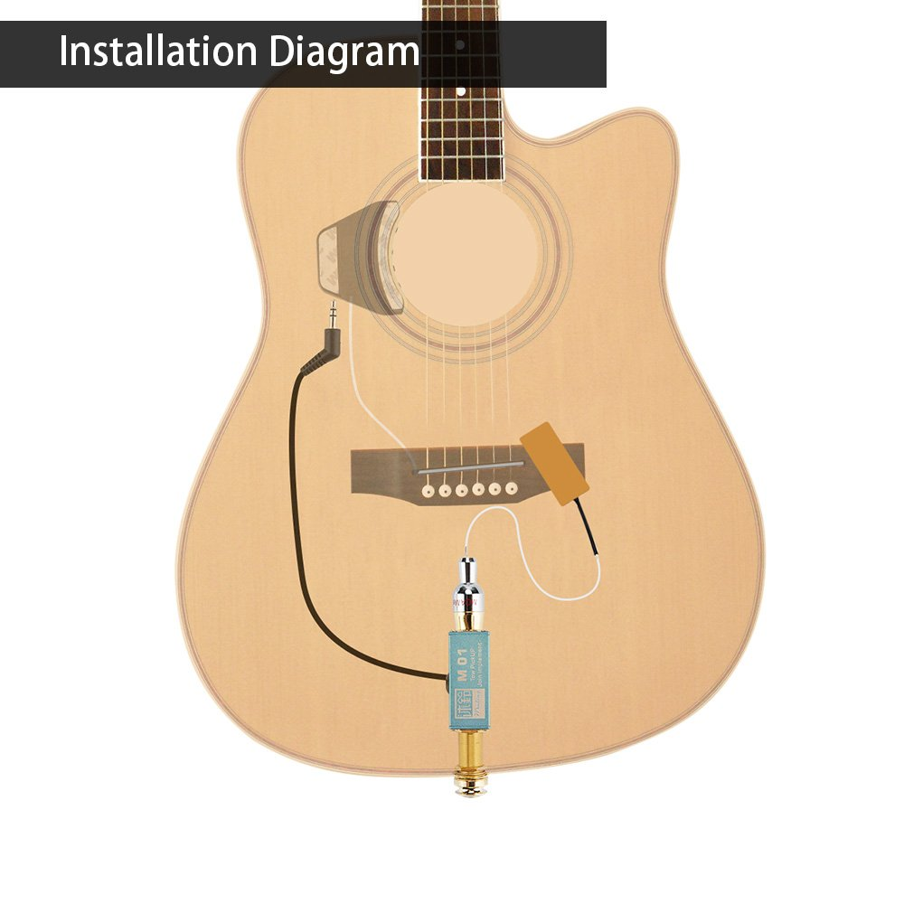 Amazon.com: Muling M01 Guitar Dual Passive Endpin Two Pickup System Dual  Output: Musical Instruments