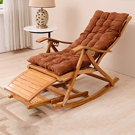 Amazon.com: Mecedora de madera, silla mecedora reclinable de ...