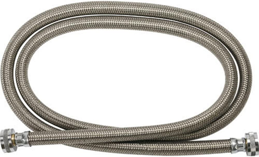 GE WX14X10005 Polymer Coated Braided Washer Hoses. 4-Feet. 2-Pack