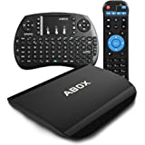 Globmall Android 6.0 TV Box with Mini Tastiera Wireless, 2GB RAM 16GB ROM Bluetooth 4.0 Smart Android Tv Box A3 with Octo Core CPU Supporto Vero 4K (60Hz) Full HD /H.265 /WiFi 2.4GHz 5.8Ghz