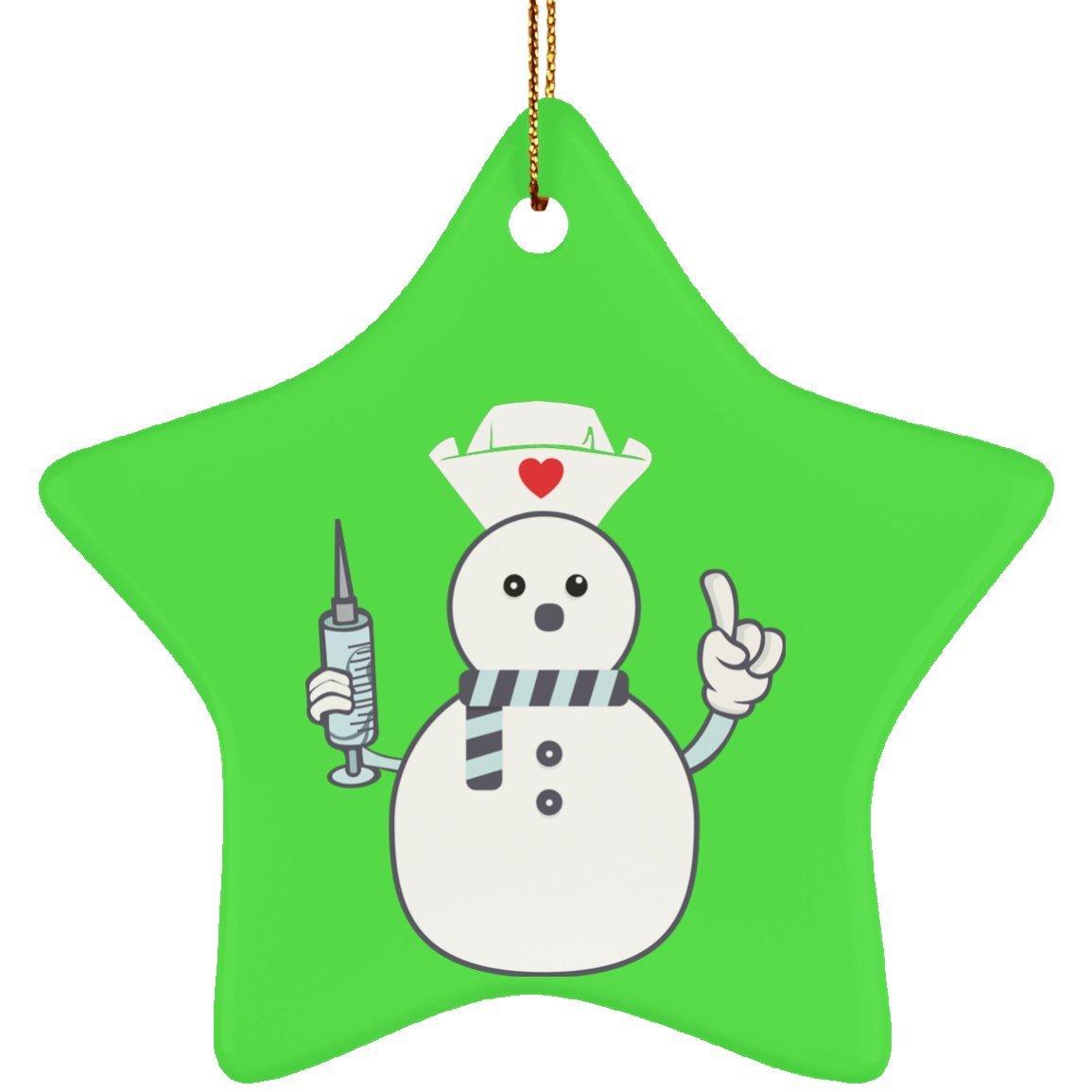 Amazon.com: Funny Christmas Nurse Snowman Xmas Tree Ornament ...