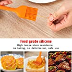 HOBOYER Silicone Basting/BBQ/Barbecue/Cooking/Pastry/Grill Meat Oil Brush, Food Grade Silicone Material Kitchen Gadgets High Temperature Brushes for Marinating, Cooking, Grilling,Baking (Orange) 11 【Material】The products use hiagh quality food grade silicone,BPA free,FDA Approved certification.Promise will not cause any harm to you and your family's health, please rest assured that use. 【Functions】Suitable for cooking, baking and Grill BBQ basting.Added ergonomic design, in line with the use of habits and cookware design. 【Durable】The bristles are flexible and can be used to brush the utensils cleanly, leaving no residue and being durable.Heat-resistant and easy on non-stick pans.