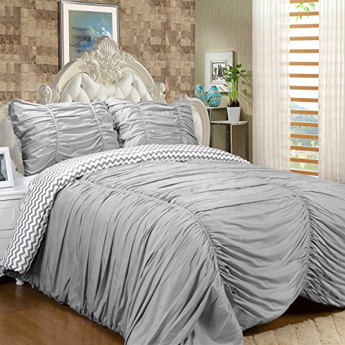 Sweet Home Collection Luxurious 7Piece Rouched Reversible...