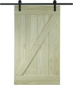 LTL Home Products 8BDSW3280KDZ Pinecroft Solid Wood Ready to Assemble Interior Barn Door Kit, 32