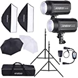 Andoer MD-300 600W Photo Studio Monolight Strobe Flash Light Softbox Lighting Kit with Light