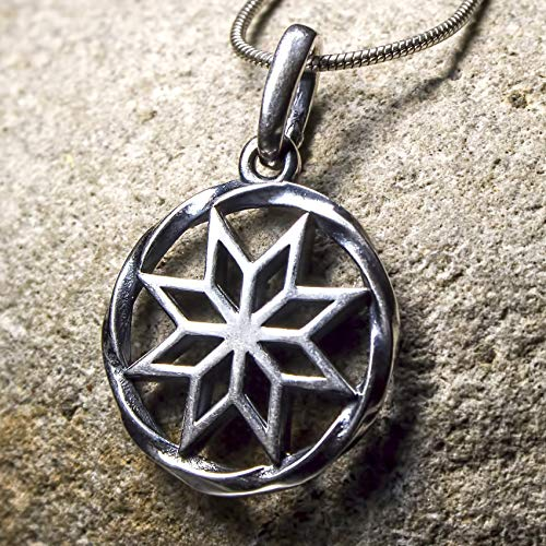 Alatyr Viking necklace 925 Sterling Silver Celtic Pendant Norse Slavic Pagan Jewelry for Women Men