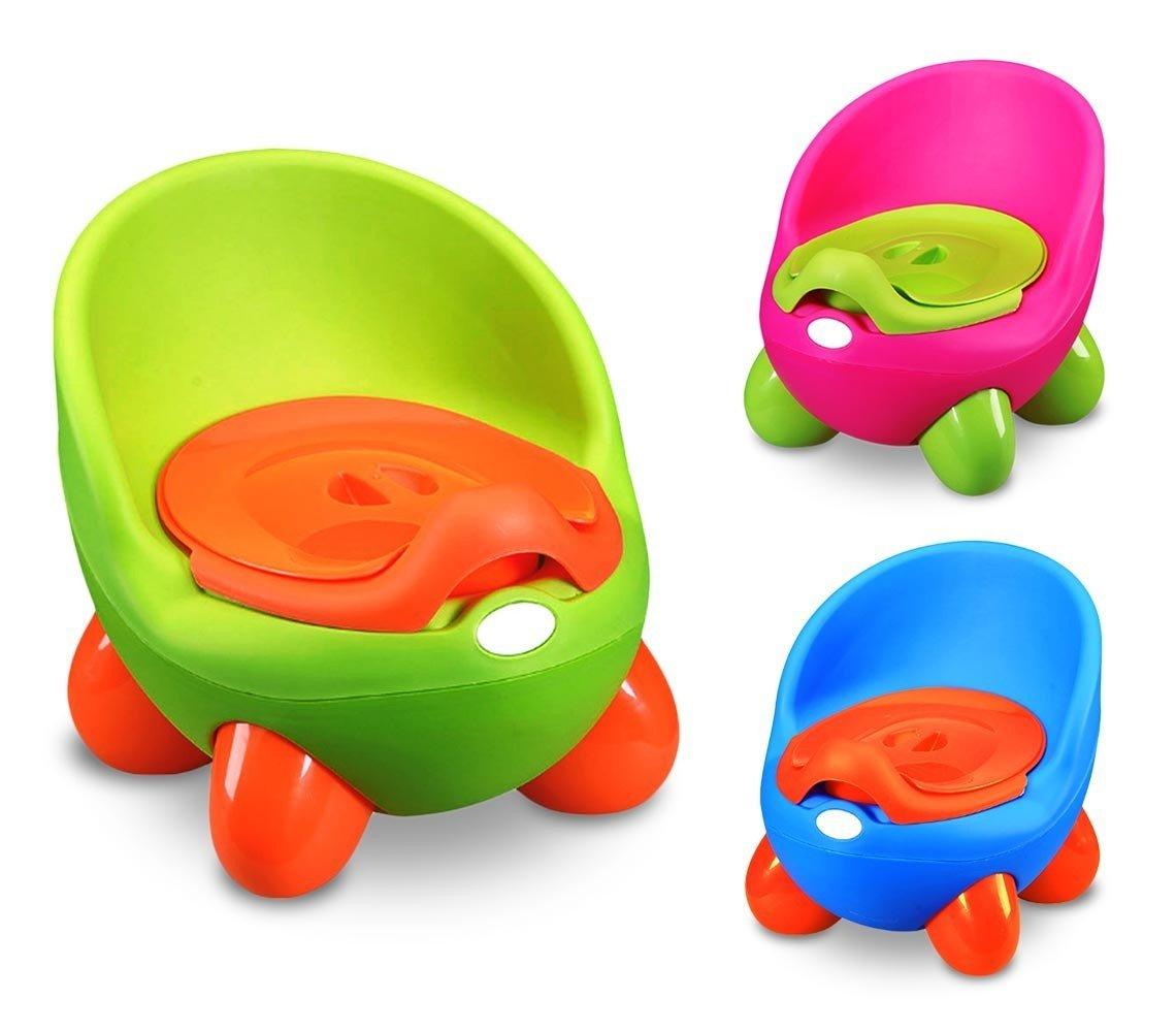 363324Töpfchen für Kinder Potty Baby Toilette praktisch sicher und komfortabel mit Deckel–grün MEDIA WAVE store ®