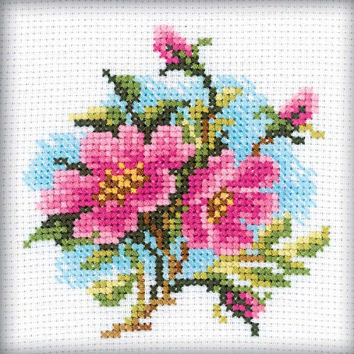 RTO H175 14 Count Counted Cross Stitch Kit, 4 by 4-Inch, Dog