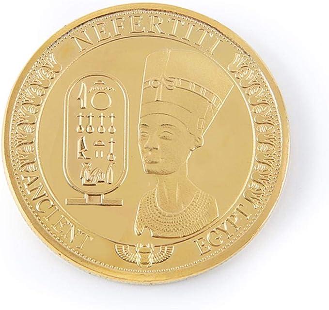 AmaMary Monedas conmemorativas, Oro Plateado Antiguo Egipcio Reina ...