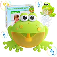 Bath Bubble Toy for Kids, Kingtree Bathtub Bubble Frog Bathing Toys Automatic Musical Bubble Maker with 12 Nursery Rhyme Music, Cute Bubble Blower Machine for Boys and Girls of All Ages, Gift Box Package