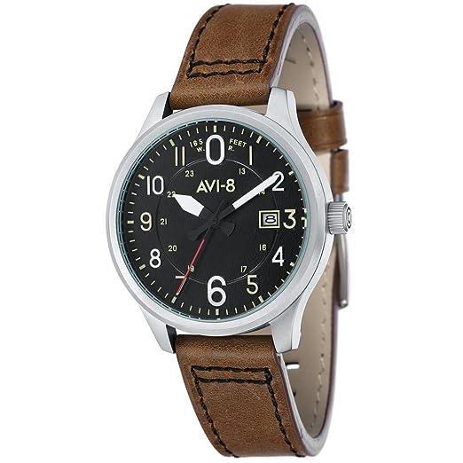 AVI-8 Hawker Hurricane av-4053 - 02 Reloj Aviator de hombre de cuarzo: Amazon.es: Relojes