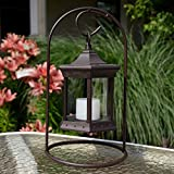 Cheap Starlite Garden and Patio Torche SLASCG Solar Lantern Arch Stand, Brown/Clear Glass