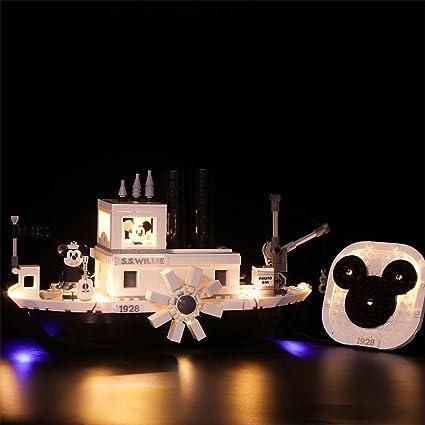 LED Light Kit for Lego 21317 Ideas Steamboat Willie 21317 Disney