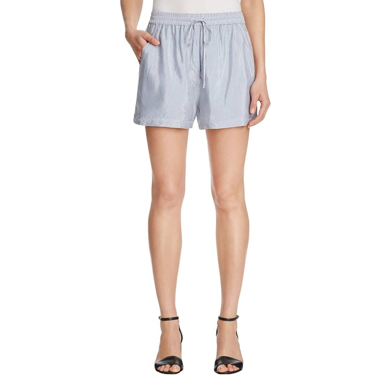 T by Alexander Wang Womens Striped Comfort Waist Casual Shorts