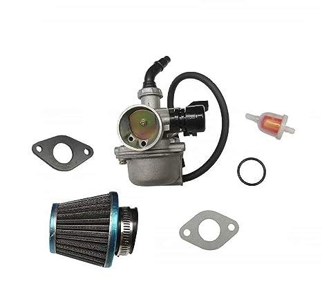 carburetor w/air fuel filter pz19 carb for 50cc 70cc 90cc 110cc 125cc atv  dirt