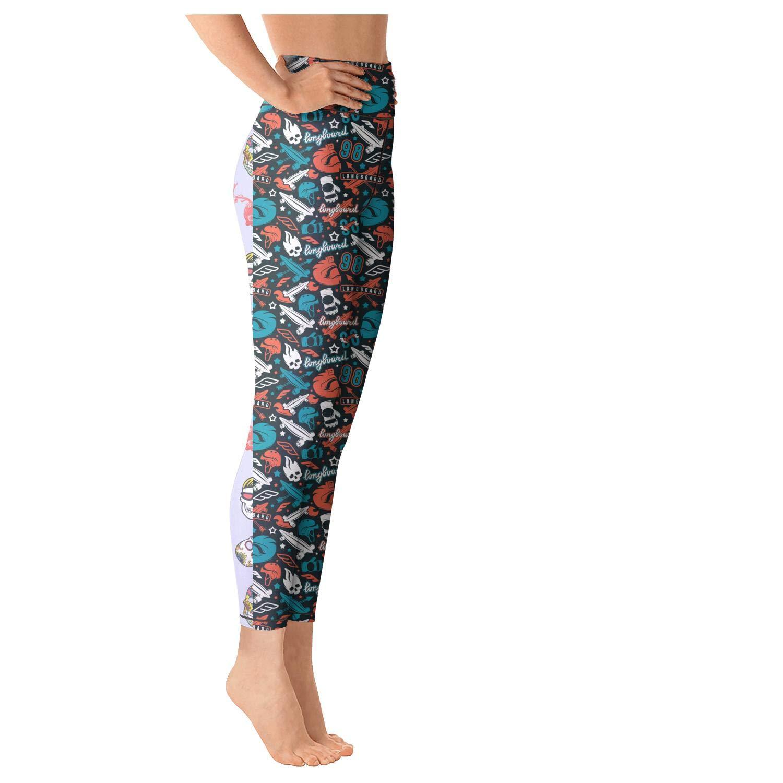 ac62205ec8a95 Pretty Women Mexican Colorful Skull Classic Yoga Leggings Yoga Pants  Clothes Gym Fun at Amazon Women's Clothing store: