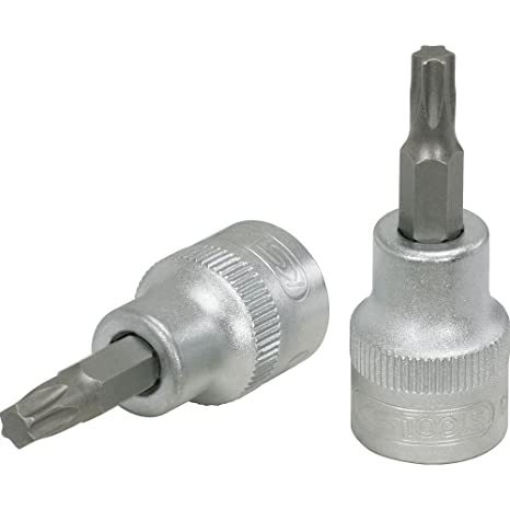 KS Tools 911.3884 - Llave de vaso con punta para tornillos Torx (T50, 3/8