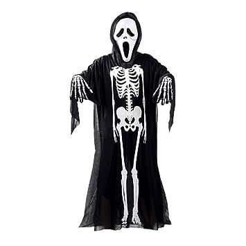 Eizur Halloween Schädel Skelett Kostüm Maske Handschuhe Set ...