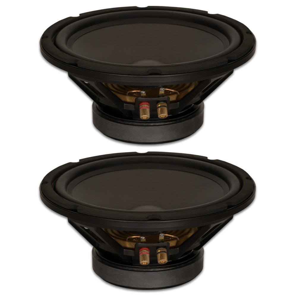 Goldwood Sound, Inc. Stage Subwoofer, Heavy Duty 8ohm 10 Woofers 400 Watts Each Replacement 2 Speaker Set (GW-10PC-8-2)