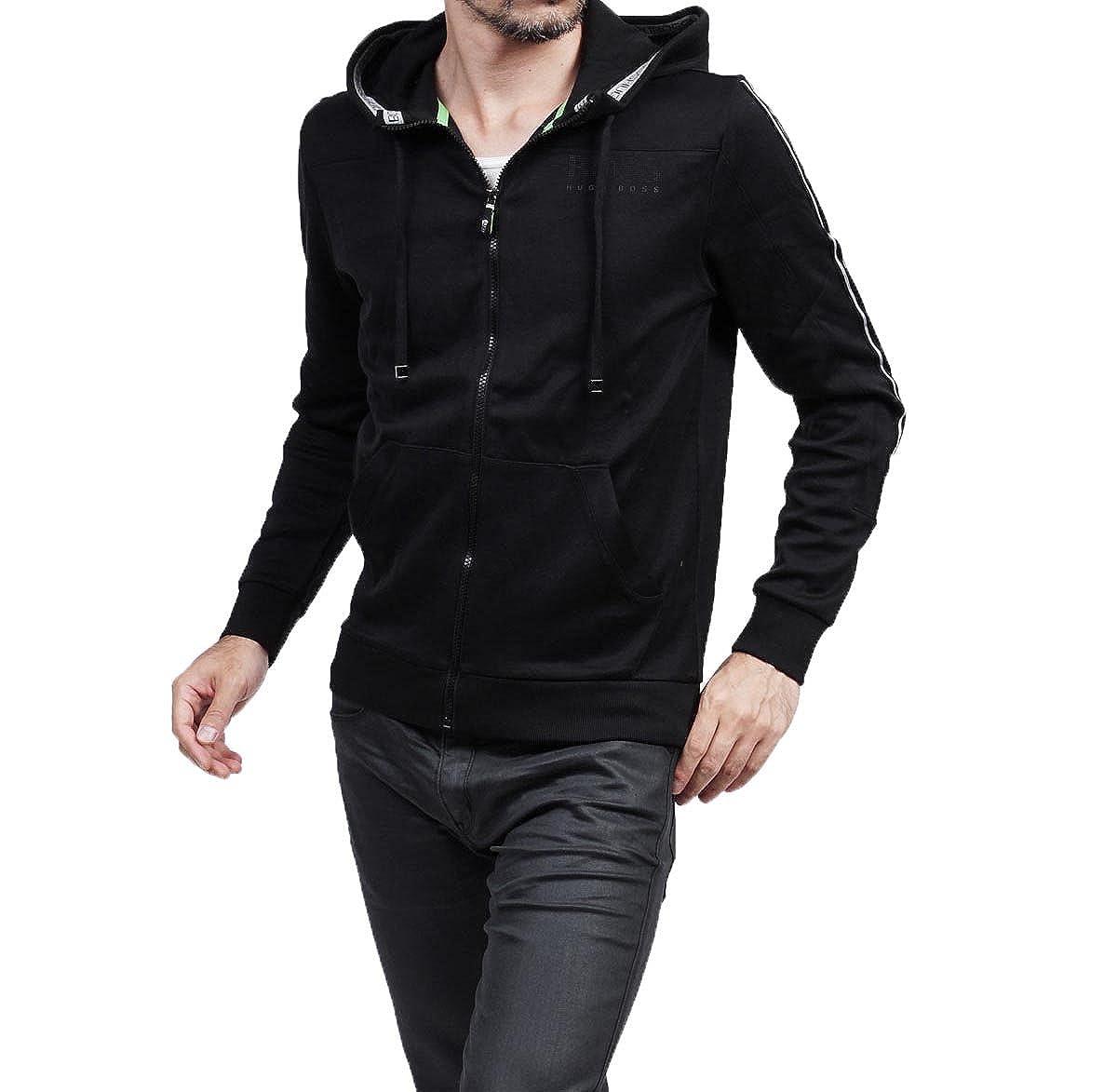 Image of Active Tracksuits Hugo Boss Men's Saggy Hakibo Black CottonTracksuit Sweatsuit