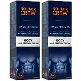 NO HAIR CREW Crema Depilatoria Corporal Premium Masculina – Hecha para Hombres 200 ml: Amazon.es: Belleza