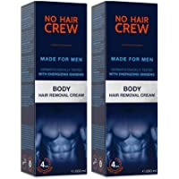 NO HAIR CREW Crema Depilatoria Corporal Premium Masculina