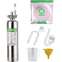 FZONE 2.5L Aquarium CO2 Generator System Carbon Dioxide Reactor Kit with Regulator and Needle Valve for Aquarium Plants…