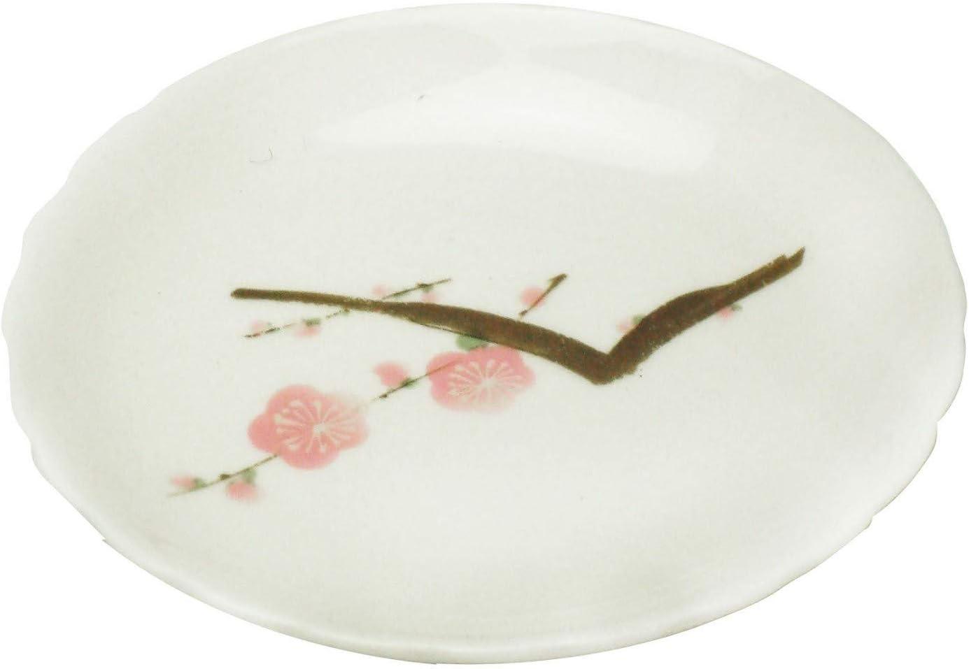 Kanese Porcelain ◀ Plancha pequeña Ciruela árbol Rama