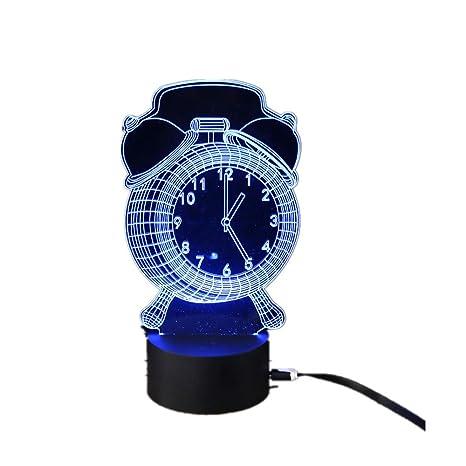 Lámpara 3d Potencia usb 7 colores Increíble ilusión óptica ...