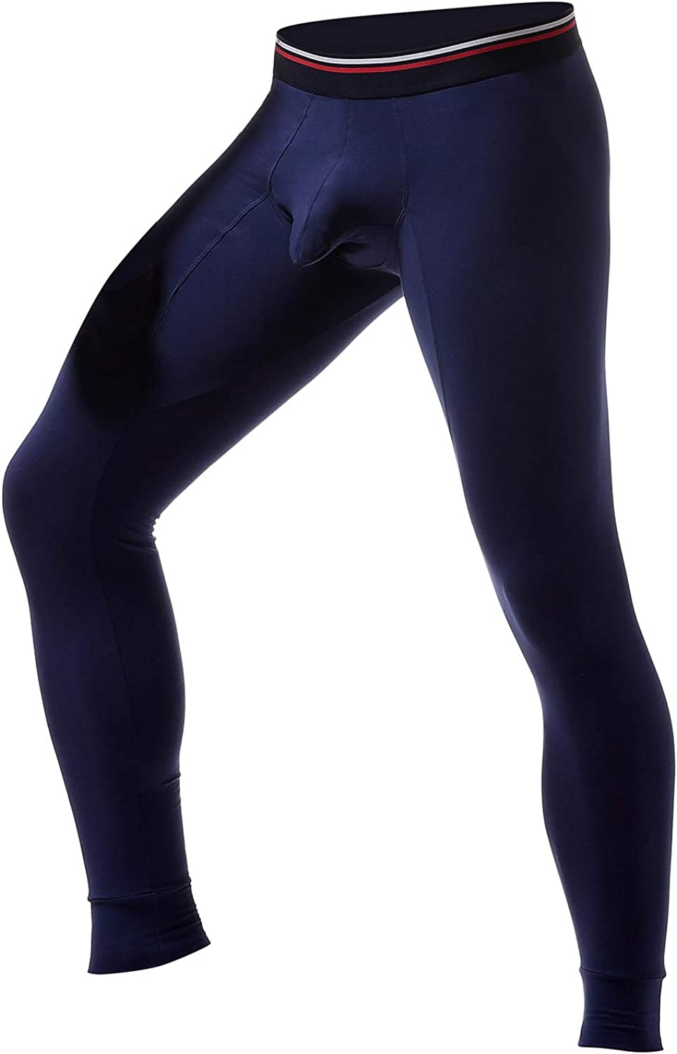 Ouruikia Mens Thermal Underwear Pants Thermal Bottoms Long Johns Bottoms with Separate Pouch