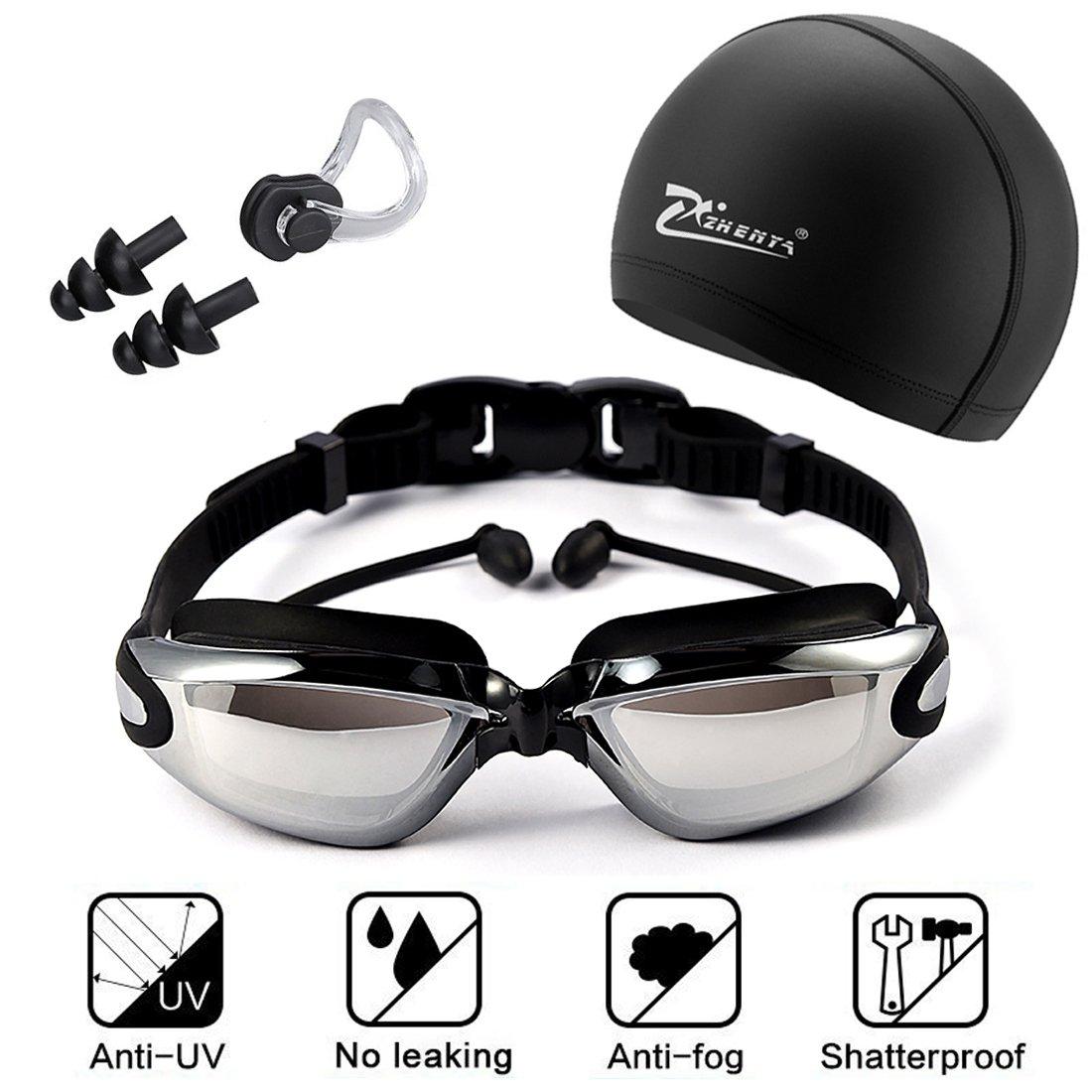 c808af85a72777 Nouveau Ajustable Ensemble de lunettes de natation, comprendre Bouchon  d oreille + Casquette +