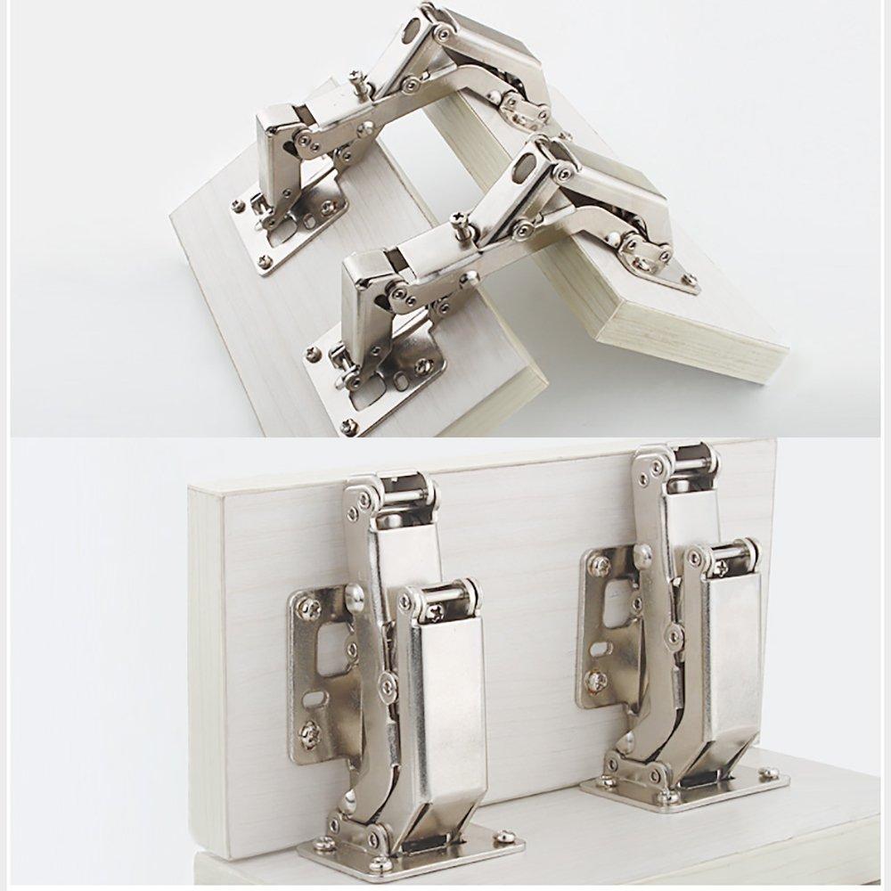 Qrity 4 X Aufschraubscharnier mit Feder Öffnungswinkel 170° Küche ...