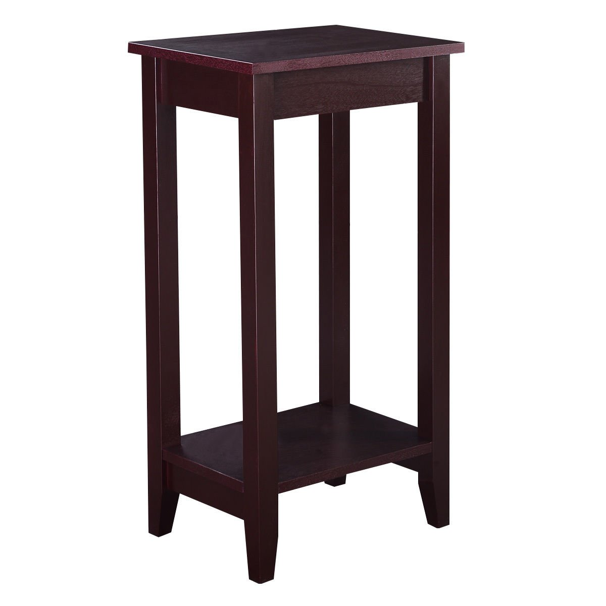 29'' Coffee Brown Wooden Tall End Table Coffee Night Stand