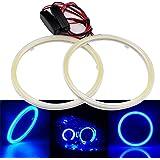 Grandview, 1 paio di lampade ad anello per fari dell'auto angel eyes, 2 pezzi, 70 mm, colore bianco, con riflettore, LED 60SMD Cob, corrente costante 9-30V