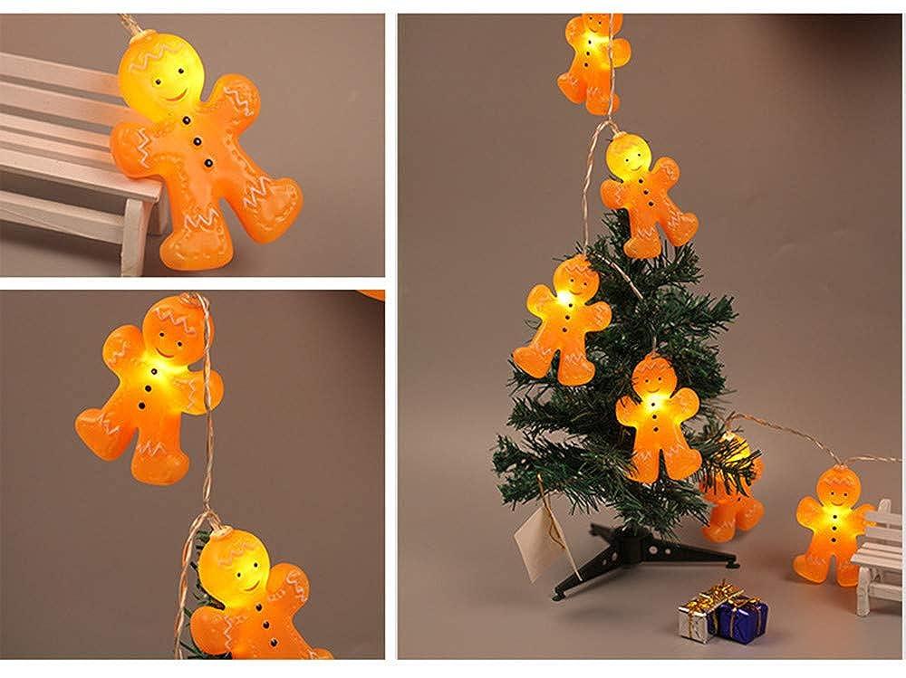 Wawer LED Weihnachten Beleuchtung, 3D Lebkuchenmänner Lichterkette ...